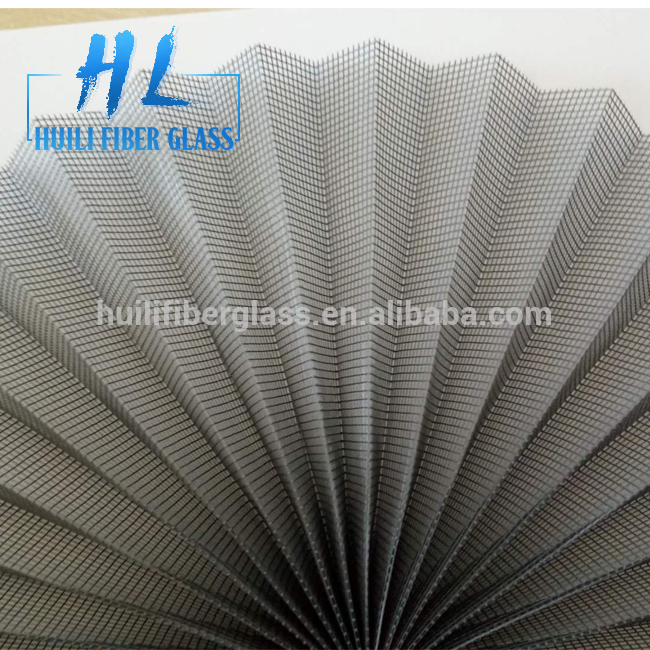 16mm folding height DIY PP material Polyester pleated insect door screen
