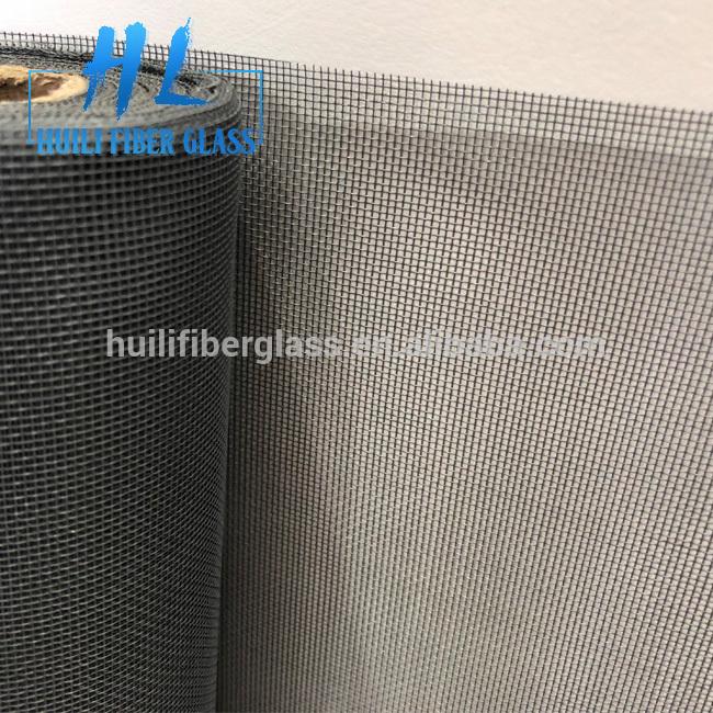 16×14 Mesh Black or Grey Fiberglass Window Screen anti mosquitoes