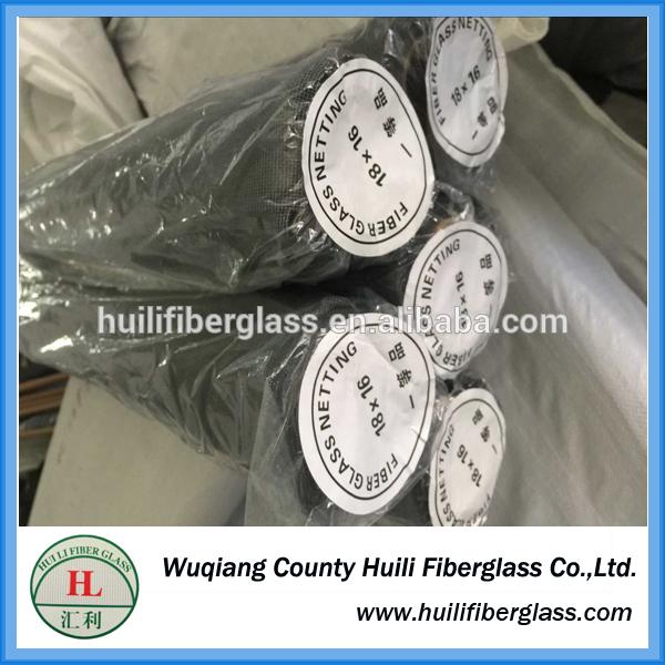 18*14 mesh hengshui Fire Proof Plastic Coated Window Fiberglass Insect Screen fiberglass window screen