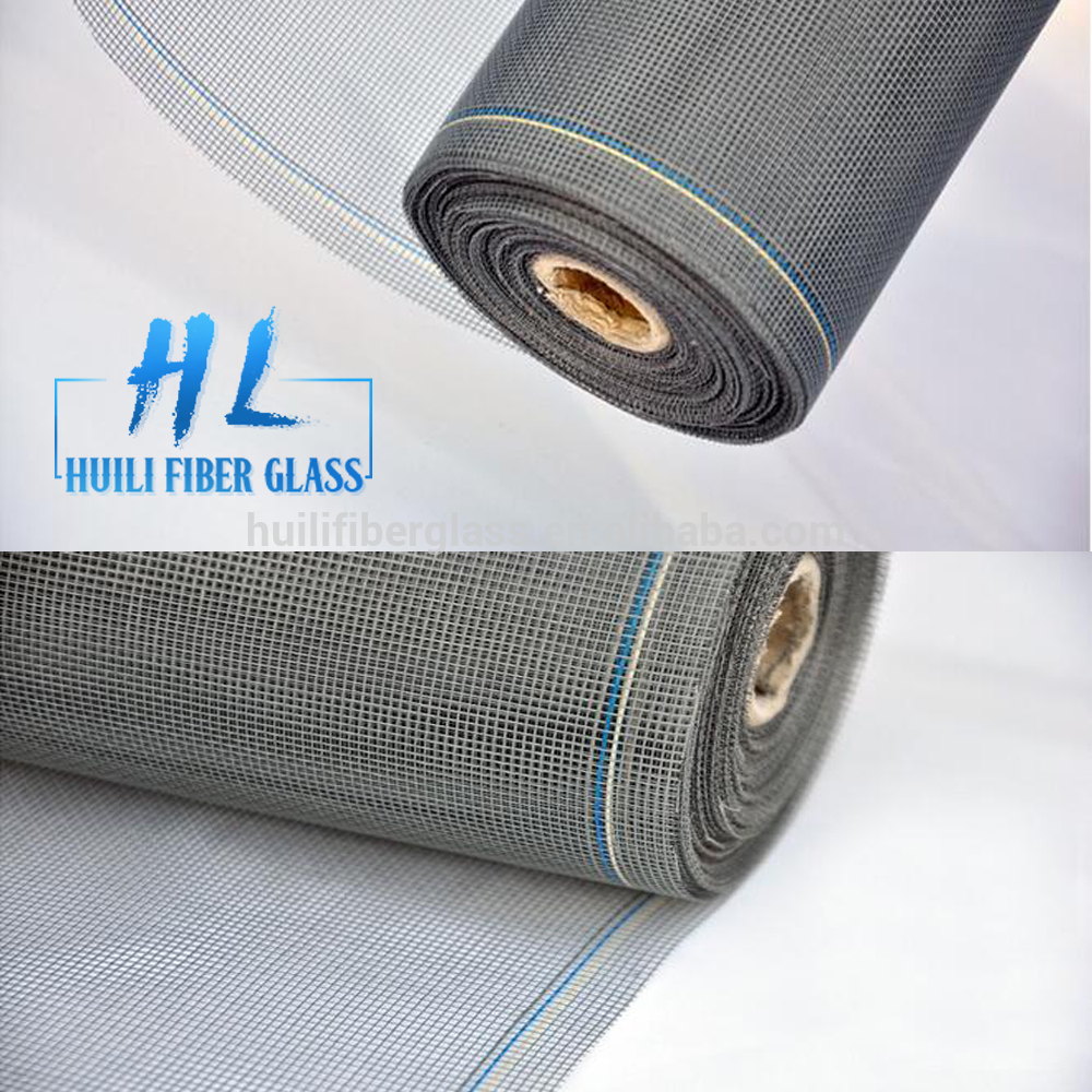 18X14 Mesh fiberglass window screen grey color from Huili factory