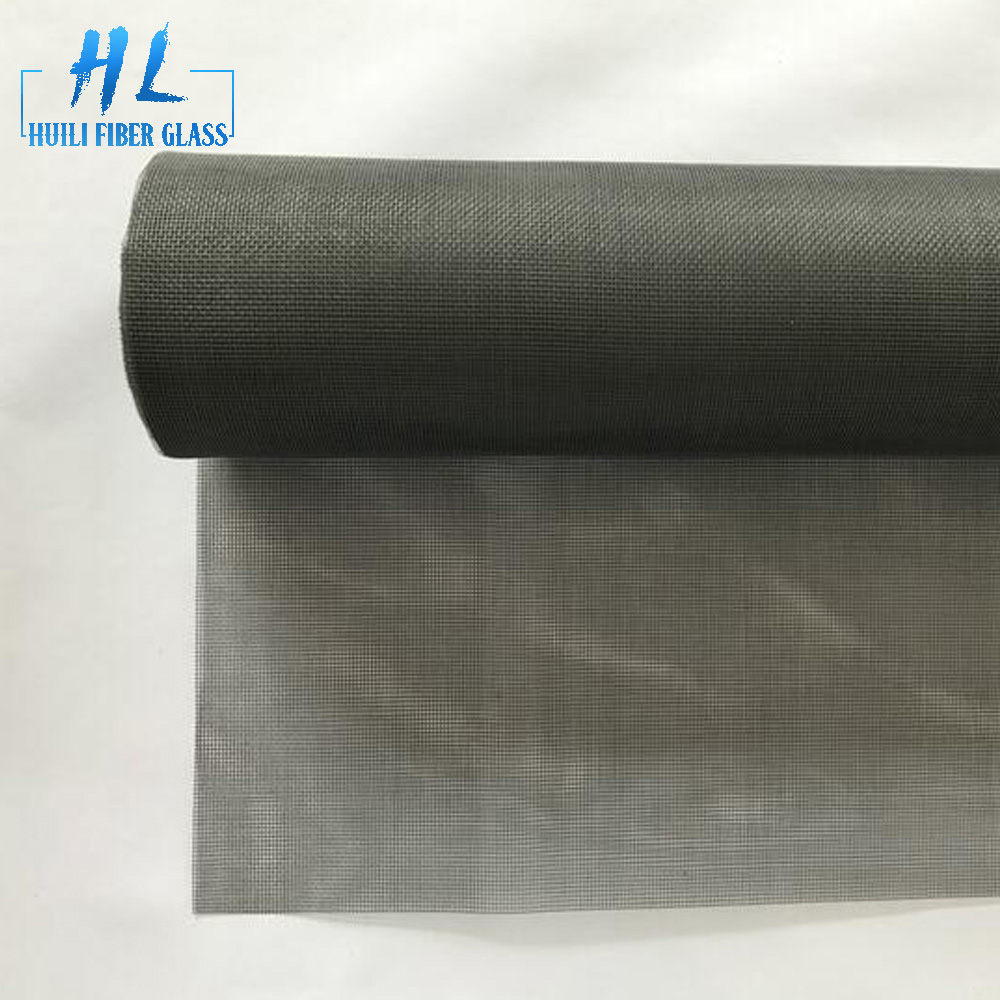 18×16 gray pvc coated fiberglass insect screen mesh