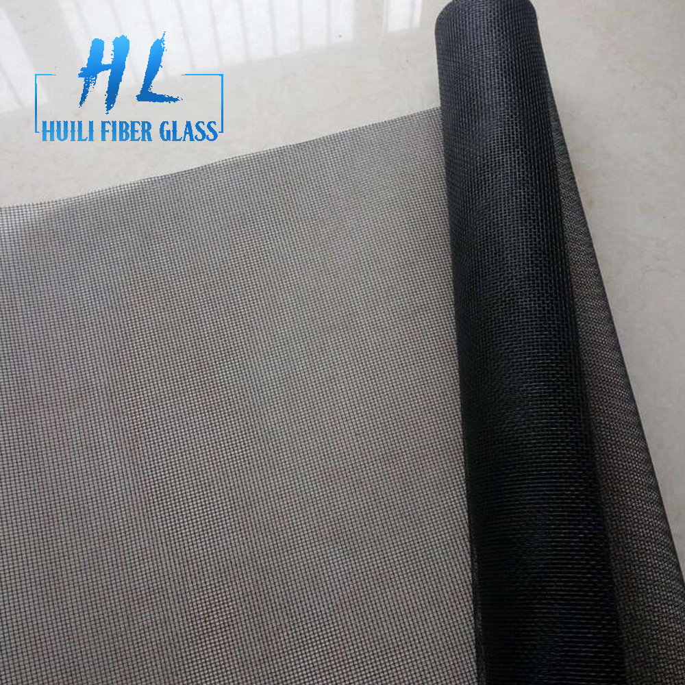 18×16 mesh black pvc coated fiberglass insect screen