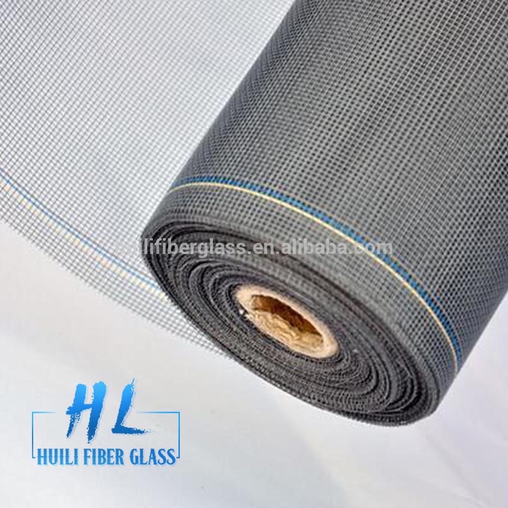 18×16 PVC Coated Fire Resistant Fiberglass Window Screen (Factory Exporter)