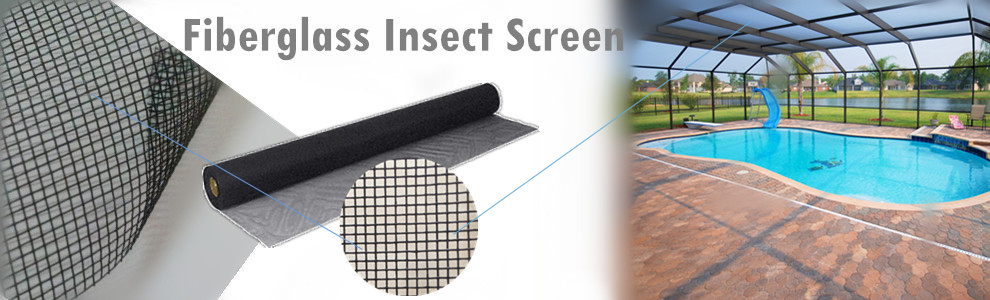 Wuqiang Factory 3' 4' 5' fiberglass insect screen window screen