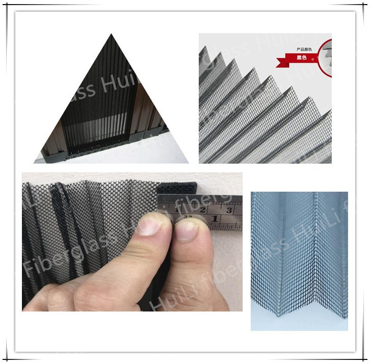 3.0M * 25M Pleated Mesh Folding Window Screen For Sliding Windows