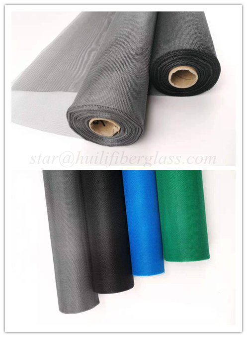 HuiLi/0.013 0.009 inch yarn charcoal color fiberglass screening