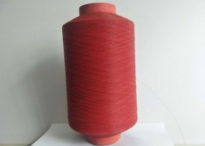 Red Color PVC Coated Fiberglass Yarn Heat Resisitant With Good Softness