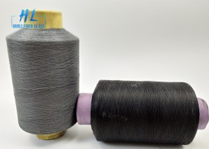 0.28mm Diameter PVC Coated Fiberglass Mesh Yarn , PVC Coated Mesh Fabric Yarn