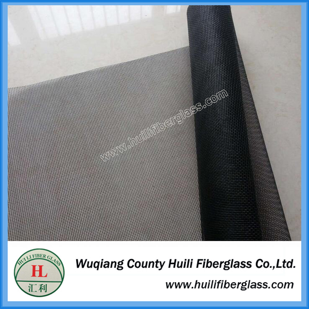 Black 20×20 Mesh Noseeum fiberglass screen mesh
