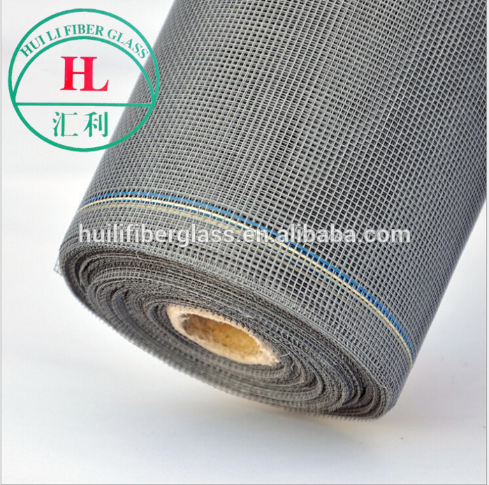 black color plain weaving fiberglass window screen with color edge