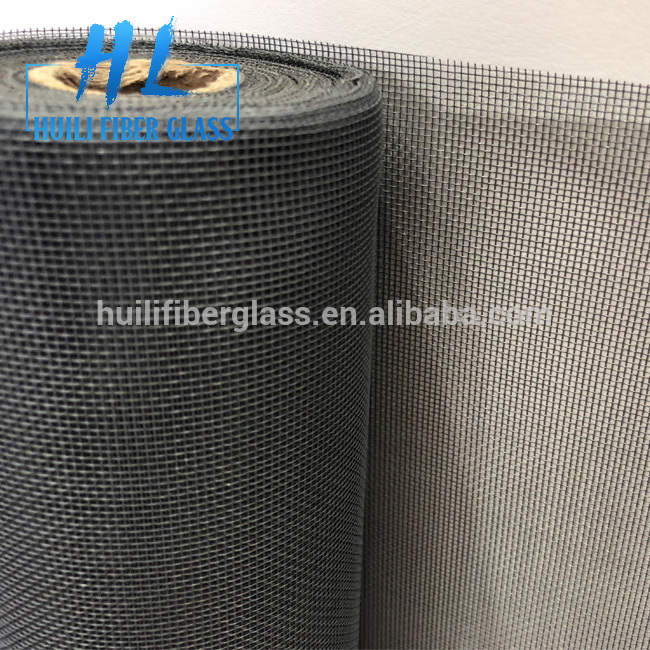 Charcoal color Fiberglass Insect Screen / Window Screen netting fly screen mesh