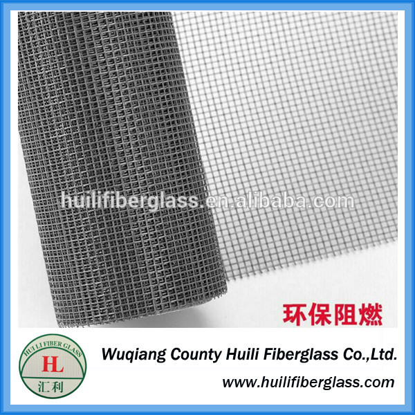 CHINA fireproof Glass fiber material black grey green color fiberglass window screen