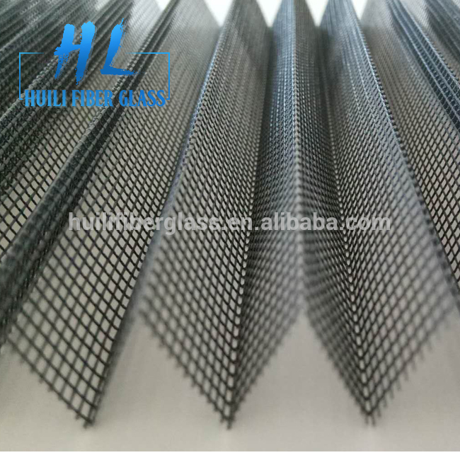 Customized 18*14 folded fiberglass insect screen net/pleated window screen