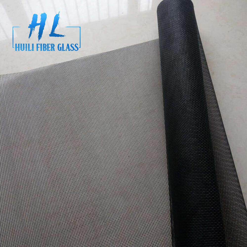effective insect barrier black color fiberglass mesh screen