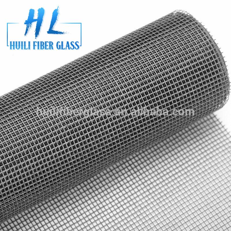 Factory directly 120g/m2 18×16 mesh black color Plain weaving fiberglass window insect screen
