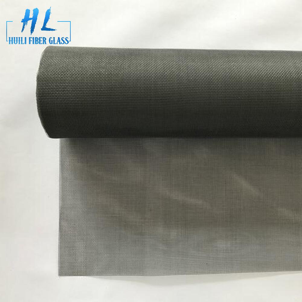 Fiberglass Black PVC coated 20×20 Mesh Count Transparent Mesh