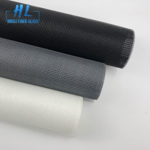 17×14 110g black PVC coated fiberglass window screen