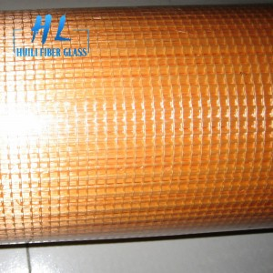 145g 5x5mm 1m x 50m orange fiberglass mesh roll