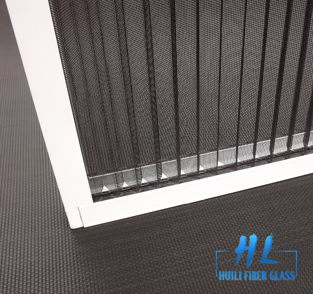 Fiberglass Plisse Insect Screen,Pleated Window Screen, Folding Insect Mesh