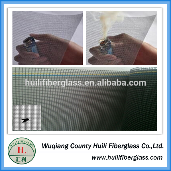 Fire Proof Pleated Invisiable Plastic Coated Window Fiberglass Insect Screen Factory &Exporter