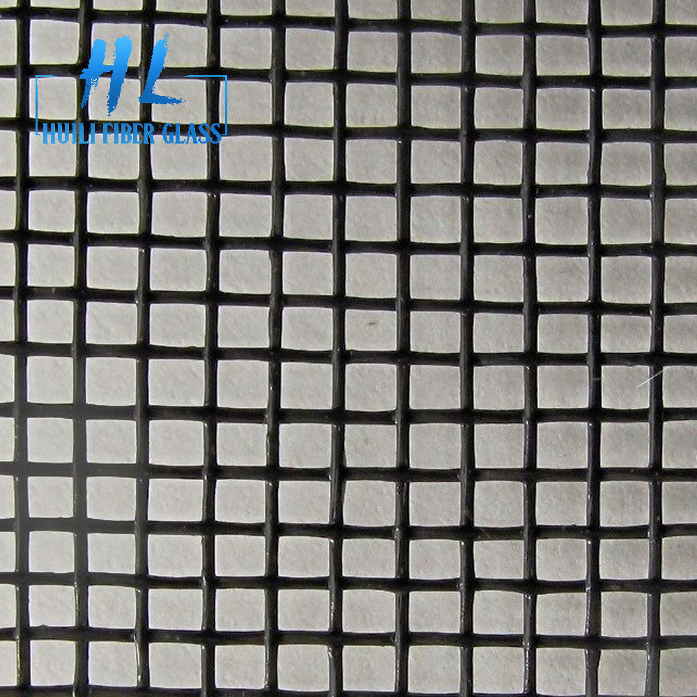 Fire resistant fiberglass window screen