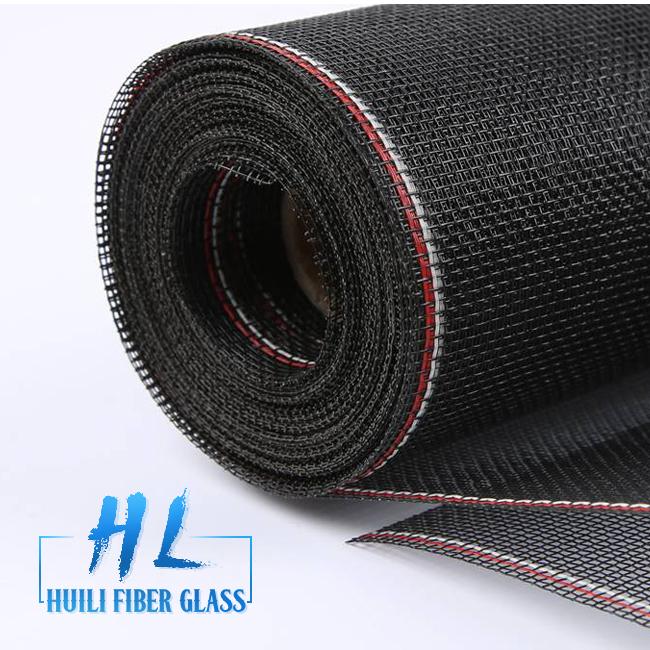 Fireproof charcoal color 18×14 0.013inch fiberglass window screen