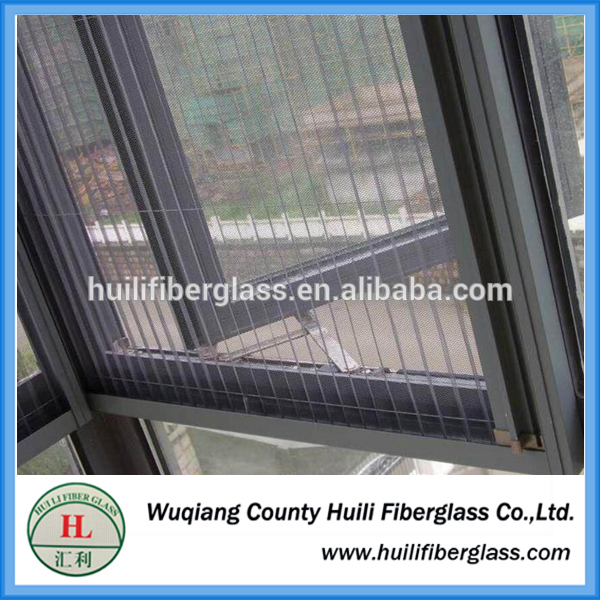 folding fiberglass mosquito window screen manufacturer /pleated net/pleated window screen