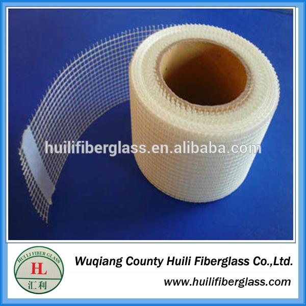 glass fiber self-adhesive tape/self-adhesive fibreglass mesh tape 2.5mm*2.5mm