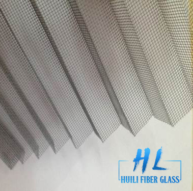 Gray Color PP PE Plisse Insect Screen