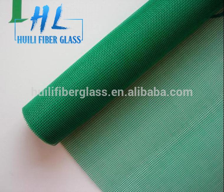 Green color invisible fiberglass mosquito screen