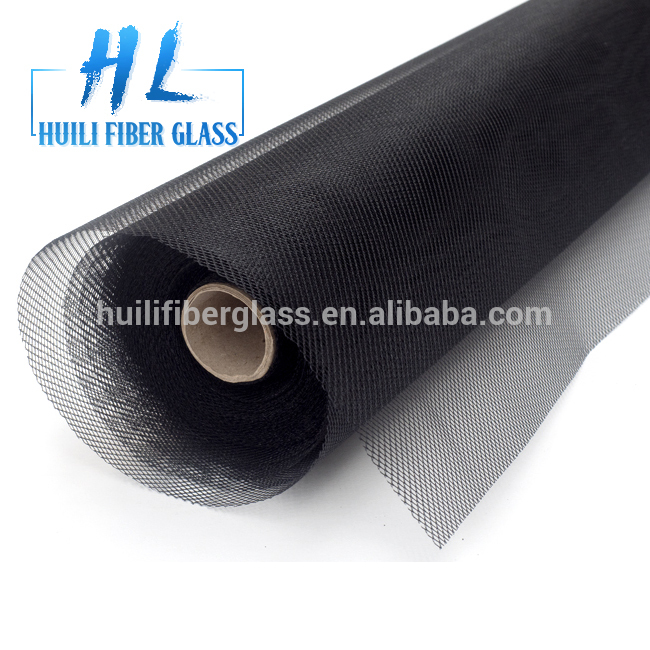 HuiLi 0.33mm yarn 18×14 mesh charcoal fiberglass window screen to US