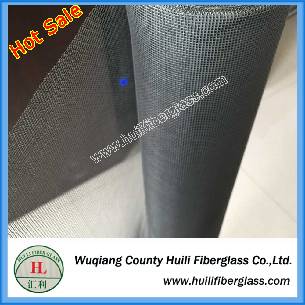 invisible light weight 110gsm flexible black color 18*16 fiber glass mosquito net