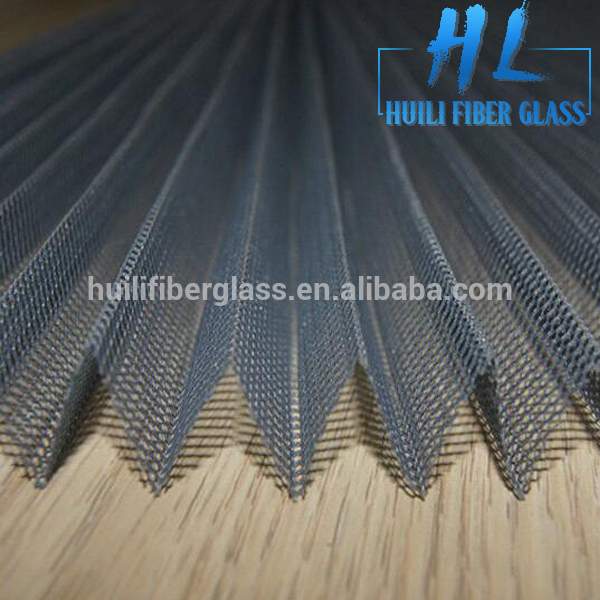 Mosquito Waterproof Plisse Insect Screen/Polyester Pleated mesh