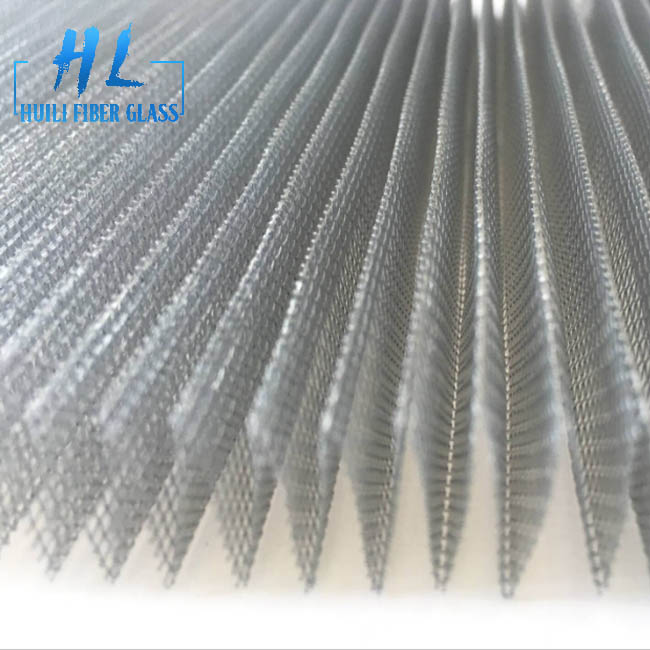 Gray Color Fiberglass Plisse Insect Screen. Pleated Window Screen, Folding Insect Mesh Featured Image