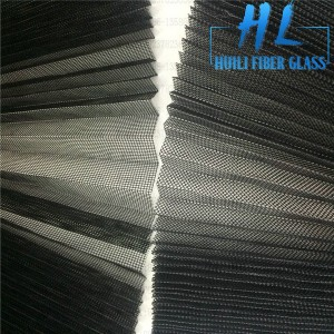 Gray Color Fiberglass Plisse Insect Screen. Pleated Window Screen, Folding Insect Mesh