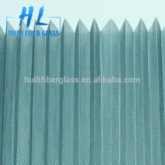 Polyester/pp material folding window screen/pleated insect screen
