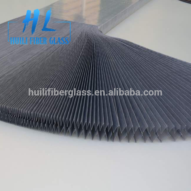 Polyester/pp material retractable polyester pleated mesh for insect door