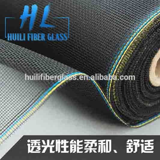 PVC Coated Window Screening Insect Wire Netting Mesh Fiberglass Window Screen (Black/Grey)