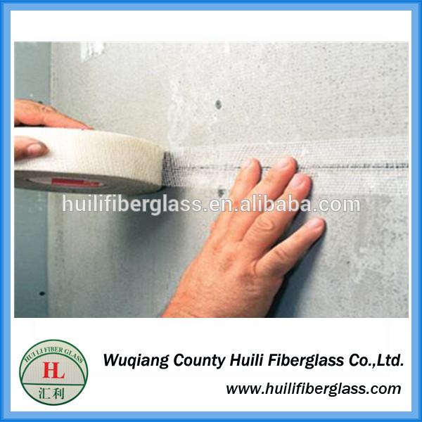 Self adhesive fiberglass mesh tape / c-glass fiberglass mesh 50mm width